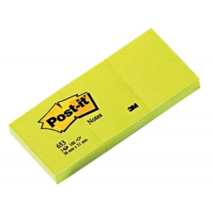 Notes samoprzylepny 38x51 mm POST-IT 3szt /3M-UU009543909/