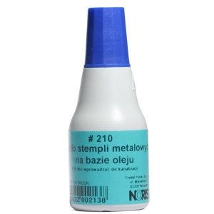 Tusz do stempli metal NORIS 210s niebieski /NO210NI /
