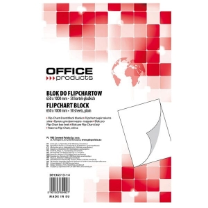 Blok Flipchart Office Products Gładki 50 Kartek 65x100cm