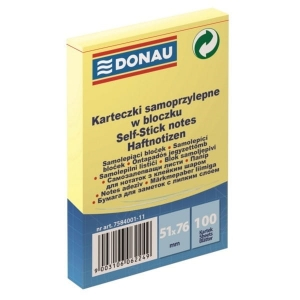 Notes samoprzylepny DONAU 51x76mm 1x100 kart. /7584001-11/
