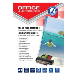 Folia do laminowania 303x426mm 100mic OFFICE PRODUCTS 100szt /20325625-90/ !dostępność 10-12-2020!